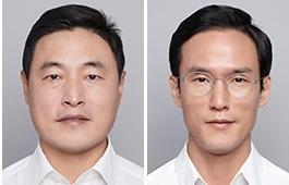 조현식 한국테크놀로지그룹 부회장(왼쪽), 조현범 한국타이어앤테크놀로지 사장. 연합뉴스