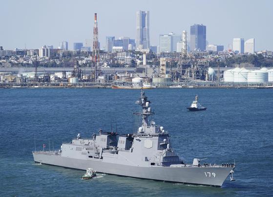 지난 3월 취역한 일본 해상자위대 이지스함 마야. 마야는 해상자위대가 인수한 7번째이자 최대 이지스함이다. [연합뉴스]