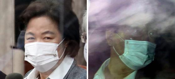 추미애 법무부 장관(왼쪽)과 윤석열 검찰총장. 연합뉴스
