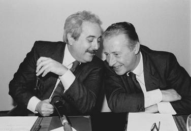 조반니 팔코네 검사(왼쪽)와 파올로 보르셀리노 검사. 사진=위키피디아