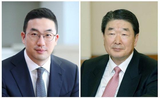 구광모(왼쪽) LG 대표와 구본준 고문. [사진 LG]