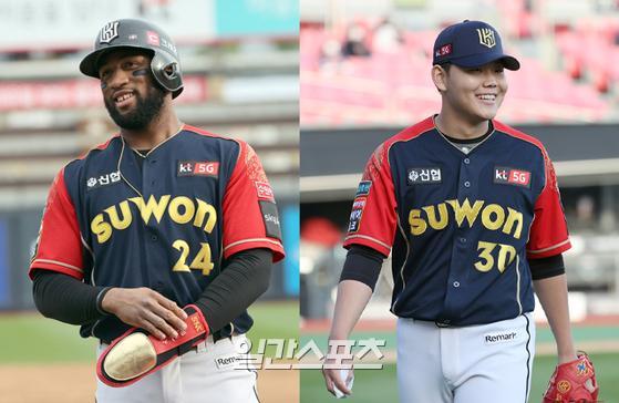 MVP 수상에 도전하는 KT 로하스(왼쪽)와 신인왕 유력 후보 소형준. IS포토