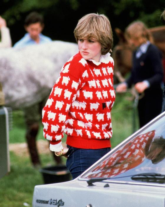 26년 만에 재출시된 다이애니비의 검은 양 무늬 스웨터. 최근 방영된 넷플릭스 드라마 '더 크라운'에 다이애나비가 등장하면서 그의 패션이 다시 한 번 화제가 되고 있다. 사진 웜앤원더풀 인스타그램