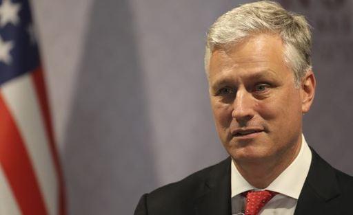 로버트 오브라이언 미 백악관 국가안보보좌관은 코로나19 유행 속 나흘 간 동남아 2개국을 방문했다. [AP=연합뉴스]