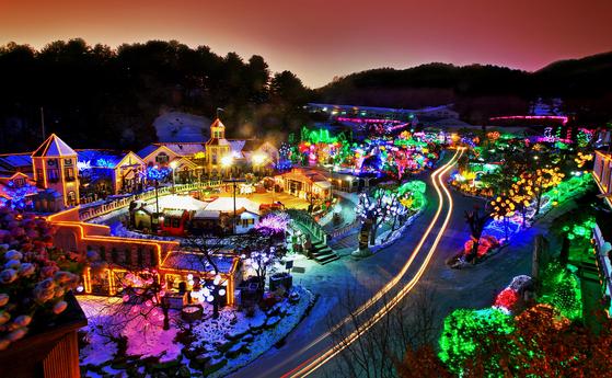포천 허브아일랜드 '불빛동화축제'. 허브아일랜드