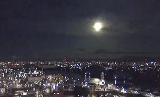29일 오전 1시 34분쯤 밝은 빛을 내는 거대한 불덩어리가 서(西)일본 광범위한 지역에서 관측됐다고 NHK 방송은 전했다. 연합뉴스