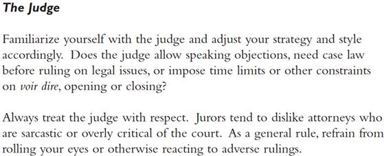 재판부에 익숙해지라는 '검사를 위한 기초공판기법'의 일부. 인터넷 캡처