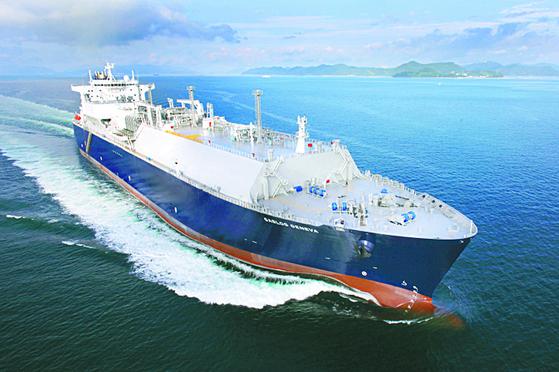 삼성중공업이 건조한 LNG 운반선. 사진 삼성중공업
