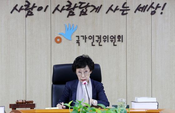 지난 7월 30일 최영애 국가인권위원장. 뉴시스