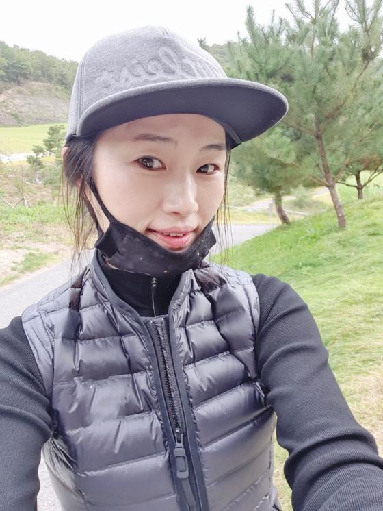 파4홀 홀인원의 주인공 이진영씨. [사진 이진영]