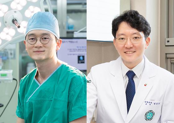 이대목동병원 성형외과 우경제, 박진우 교수(왼쪽부터). 사진 이대목동병원
