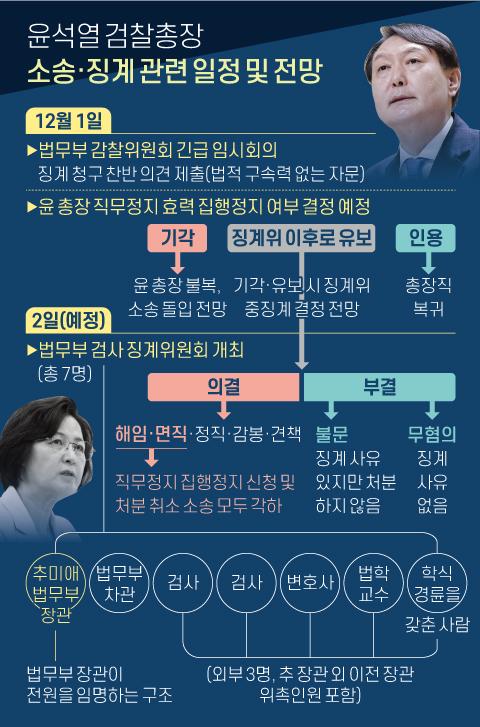 윤석열 검찰총장 소송·징계 관련 일정 및 전망. 그래픽=신재민 기자 shin.jaemin@joongang.co.kr