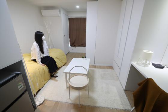 서울 성북구에 문 연 청년 맞춤형 공유주택. 관광호텔을 리모델링했다. 취사시설이 없다.[연합뉴스]