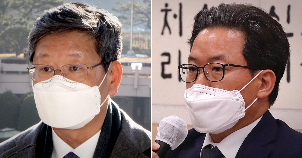 이용구 신임 법무부 차관(왼쪽)과 심재철 법무부 검찰국장. 연합뉴스·뉴스1