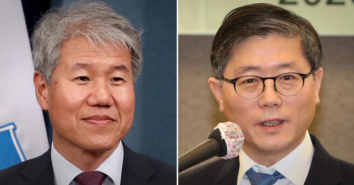 김수현 전 청와대 정책실장(왼쪽)과 변창흠 국토교통부 장관 후보자. 연합뉴스·뉴스1