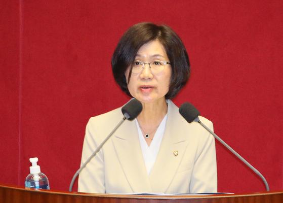 권인숙 더불어민주당 의원. 연합뉴스