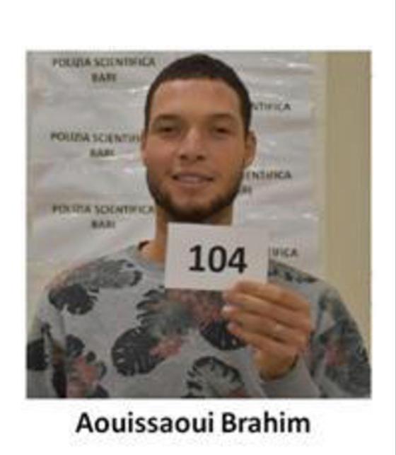 지난 10월 프랑스 '니스 테러' 용의자인 브라힘 아우이사우이(21). EPA=연합뉴스