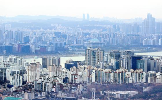 아파트가 보이는 서울시 전경. 연합뉴스