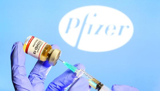 미 제약사 화이자가 개발한 신종 코로나바이러스 감염증(코로나19) 백신. 로이터=연합뉴스