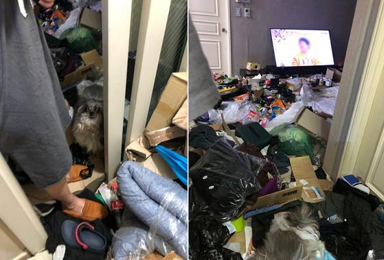 지난달 25일 전남 여수시 공무원이 확인한 '냉장고 영아 시신 사건'이 발생한 가정집 내부. 여수시