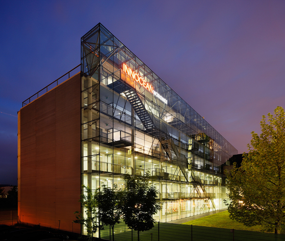 독일 프랑크푸르트에 위치한 이노션 월드와이드 유럽법인 건물. 2020 유로베스트에서 그랑프리 3개를 수상했다. 사진 이노션