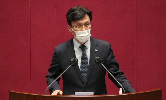 더불어민주당 김민석 서울시장 보궐선거기획단장. 오종택 기자