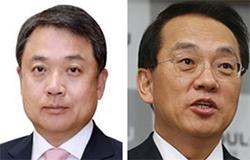 정진행 현대건설 부회장(左), 김용환 현대제철 부회장(右)
