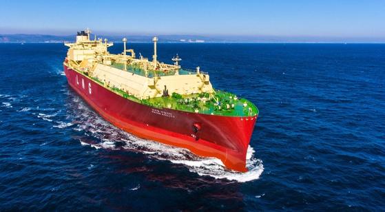 현대중공업이 건조한 LNG 운반선. 사진 한국조선해양