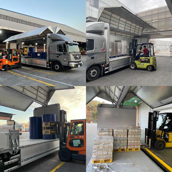 자율주행트럭 스타트업 '마스오토'은 지난달부터 경기도 파주와 대전 물류 터미널간 택배 운송 업무에 자율주행트럭을 투입하고 있다. 겉보기에는 평범한 5.5톤짜리 트럭같지만 카메라 등을 이용해 운전자 개입없이 자율주행운송이 가능하다. [마스오토]