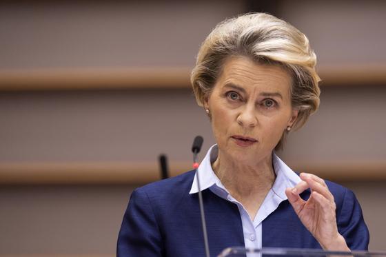 우르줄라 폰데어라이엔 EU집행위원장. [AP=연합뉴스]