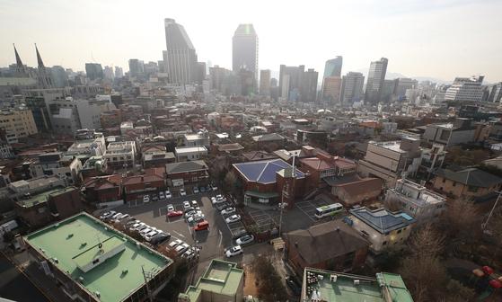 내년도 서울 표준주택 공시가가 지난해 대비 10.13% 오른다. 사진은 강남구 주택가 모습. [연합뉴스]