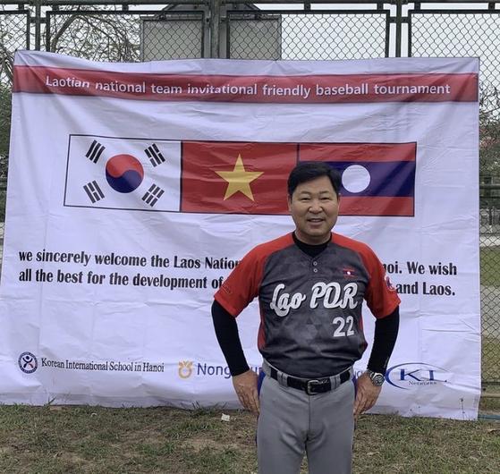 베트남 야구협회 설립에 기여한 이만수 감독. [사진 헐크파운데이션]