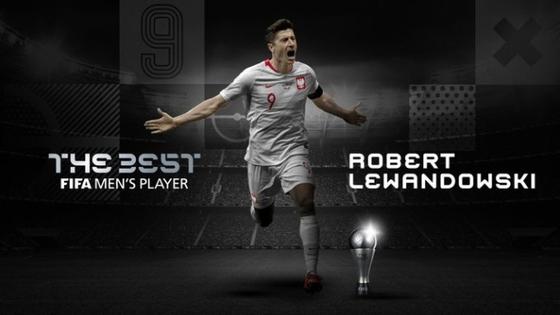 FIFA 올해의 선수로 선정된 바이에른 뮌헨 공격수 로베르트 레반도프스키. [사진 국제축구연맹 홈페이지]