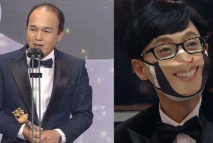 지난 19일 2020 SBS 연예대상에 출연한 김광규(왼쪽)와 유재석. [사진 SBS 캡처]
