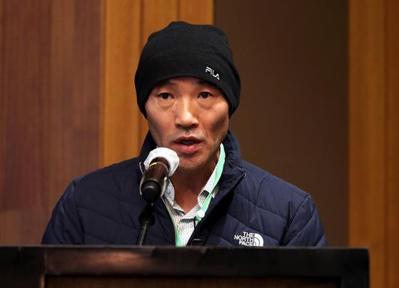서해에서 북한군에 의해 사살된 공무원의 형인 이래진씨. 뉴시스
