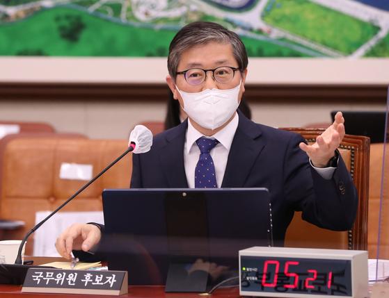 23일 국회에서 변창흠 국토교통부 장관 후보자 인사청문회가 열렸다. 변창흠 후보자가 의원들의 질의에 답변하고있다. 오종택 기자