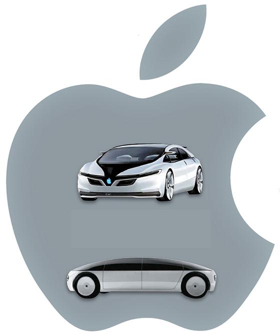 애플 관련 정보가 올라오는 '맥루머스'에서 예상한 애플 자동차(위). 프리랜서 디자이너가 그린 애플 콘셉트카. [사진 맥루머스·아리스토메니스 치바스]