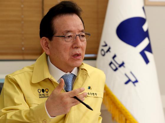 정순균 서울시 강남구청장. 최정동 기자
