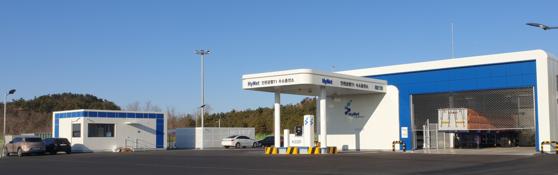 인천공항 제1터미널 수소충전소. 내년 1월 오픈한다. 사진 하이넷