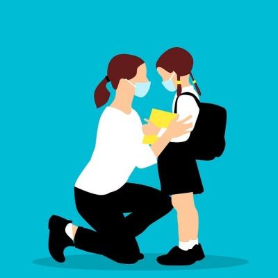 코로나19로 마스크를 쓰고 했던 수업. 올해 2학년이 되는 둘째는 초등학교 생활을 어떻게 기억할까? [사진 pixabay]