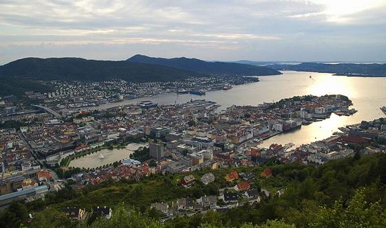 노르웨이는 피오르라고 하는 길고 좁으며 해안선이 복잡한 해안이 많아 항구가 들어서기에 좋은 조건을 갖추고 있고, 어장도 풍부해 대구·청어·고등어 등이 많이 잡히고 있다. 노르웨이 피오르 해안선의 항구. [사진 wikimedia commons]