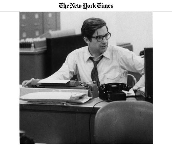 Neil Sheehan은 The New York Times가 The Pentagon에 나타날 때 나타납니다.  NYT 캡처