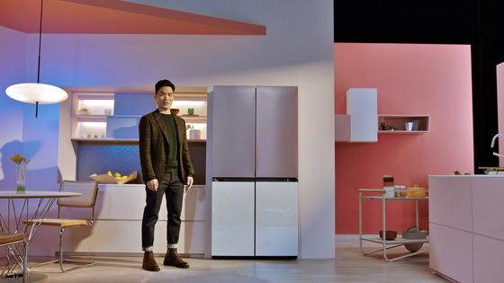 승현준 삼성전자 사장(삼성리서치 소장)이 11일(현지시간) 온라인으고 개막한 CES 2021 삼성 프레스컨퍼런스에서 비스포크 냉장고를 소개하고 있다. [사진 삼성전자]