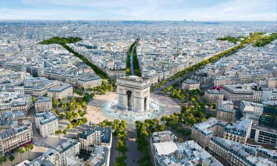프랑스 파리시의 샹젤리제 거리 녹지 조성 프로젝트 조감도.[PCA Stream]