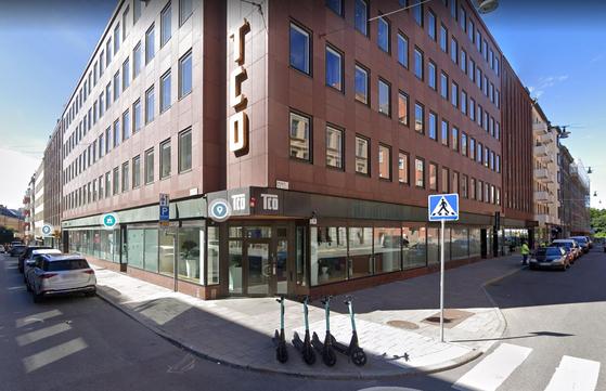 스웨덴 스톡홀름에 있는 TCO(스웨덴 사무전문직 노총) 본부 건물 전경. [사진 구글어스]