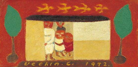 장욱진 가족도. 1972, 캔버스에 유채.[사진 현대화랑]