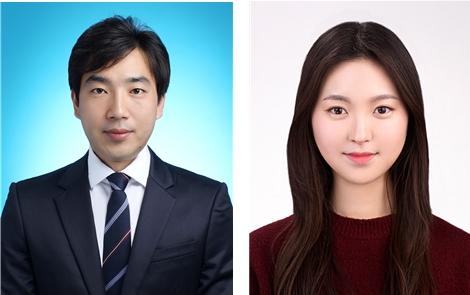 제약공학과 이세중 교수(왼쪽) 와 석사과정 김지윤 학생(오른쪽)