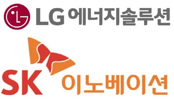LG에너지솔루션과 SK이노베이션의 회사 로고. [중앙포토]