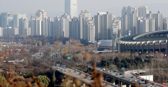 서울 잠실 일대의 아파트 단지 모습. [연합뉴스]