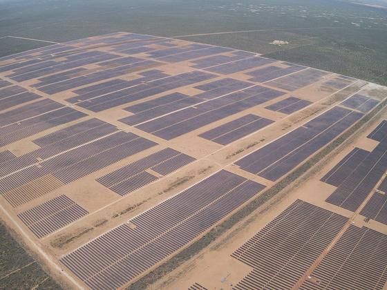 한화에너지 자회사 174파워글로벌이 개발해 운영하고 있는 미국 텍사스주의 태양광발전소 전경. 사진 한화